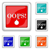 Oops icon — Stock Vector