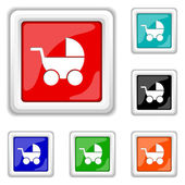 Baby carriage icon — Stock Vector