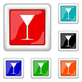 Martini glas pictogram — Stockvector