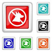 Forbidden dogs icon — Stock Vector