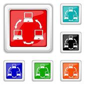 Computer network icon — Stock Vector