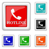 Hotline icon — Stock Vector