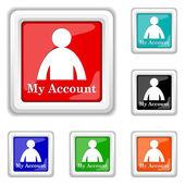 Mijn account-pictogram — Stockvector