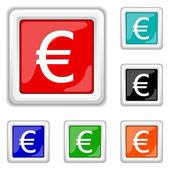 Euro icon — Vector de stock