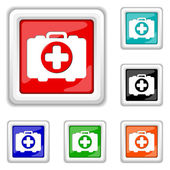 Medical bag icon — Vector de stock