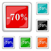 70 percent discount icon — Stock Vector
