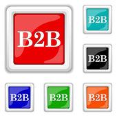 B2B icon — Stock Vector