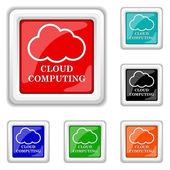 Icona di cloud computing — Vettoriale Stock