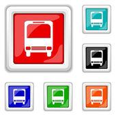 Bus icon — Stock Vector
