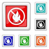 Fire forbidden icon — Stock Vector