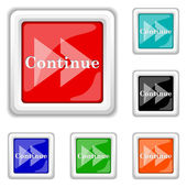 Continue icon — Stock Vector