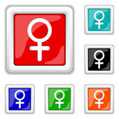 Icona di segno femminile — Vettoriale Stock