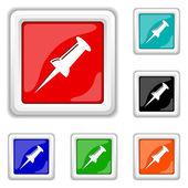 Pin icon — Stock Vector