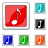 Musical note icon — Stock Vector