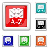 A-Z book icon — Stock Vector