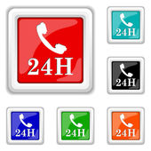 24H phone icon — Stock Vector