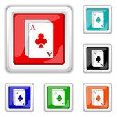 Deck of cards icon — Vetor de Stock