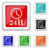 Icono de reloj de 24 horas — Vector de stock