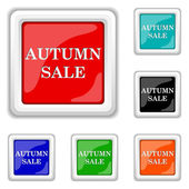 Autumn sale icon — Stock Vector