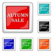Autumn sale icon — Stock Vector