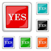 Yes icon — Stock Vector