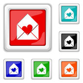 Enviar amor ícone — Vetorial Stock