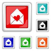 Enviar icono de amor — Vector de stock