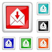 Receive e-mail icon — Stock Vector