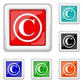 Copyright icona — Vettoriale Stock