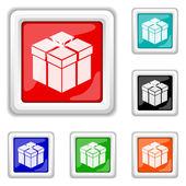 Icono de regalo — Vector de stock