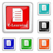 E-learning icon — Stock Vector