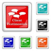 Client testimonials icon — Stock Vector