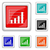 Chart bars icon — Stock Vector