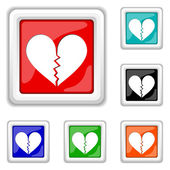 Broken heart icon — Stock Vector