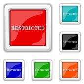 Restricted icon — Cтоковый вектор