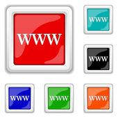 WWW icon — Stock Vector