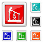 Oil pump icon — Stock Vector