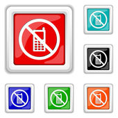 Mobile phone restricted icon — Stock Vector
