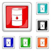 Oil barrel icon — Stock Vector