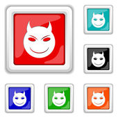 Evil icon — Stock Vector