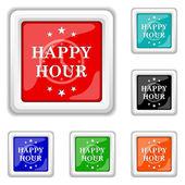 Happy hour icon — Stock Vector