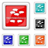 Testimonials icon — Stock Vector