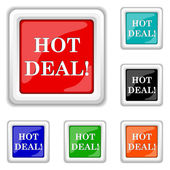 Hot deal icon — Stock Vector
