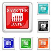 Save the date icon — Stock Vector