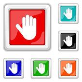 Stop icon — Cтоковый вектор