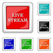 Live stream icon — Stock Vector