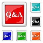 Q&A icon — Stock Vector