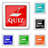 Icono de quiz — Vector de stock