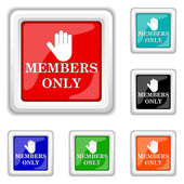 Members only icon — Stock Vector