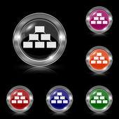 Organizational chart icon — Stock Vector